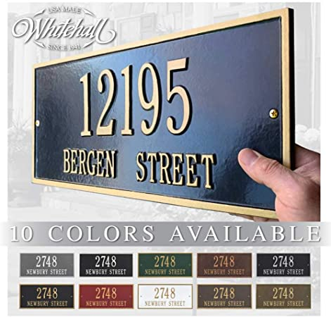 Metal Address Plaque Personalized Cast The Hartford Plaque Display Your Address And Street Name Custom House Number Sign Garden Outdoor