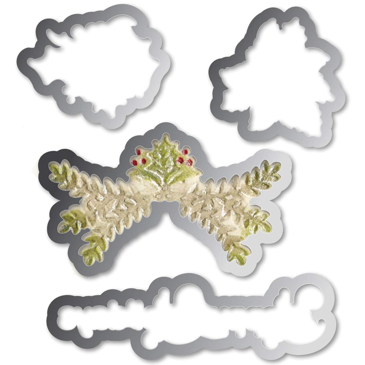Sizzix Framelits Die and Embossing Folder Christmas Ornament Set (8 Pack)