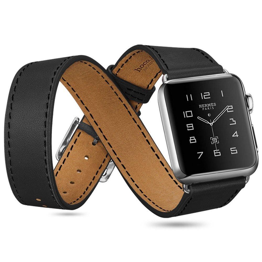 Apple Watch 38mm シンプルトゥール [黒レザーバンド]