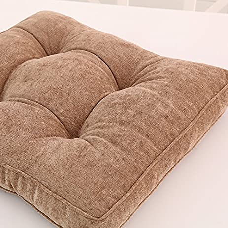 17u0026quot;x17u0026quot; Square Corduroy Mangogo Pearl Cotton Chair Cushions  Thickened ...