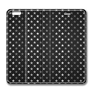 Brain114 6 Plus, iPhone 6 Plus Case, iPhone 6 Plus 5.5 Case, Stars Pattern Black And White PU Leather Flip Protective Skin Case for Apple iPhone 6 Plus 5.5