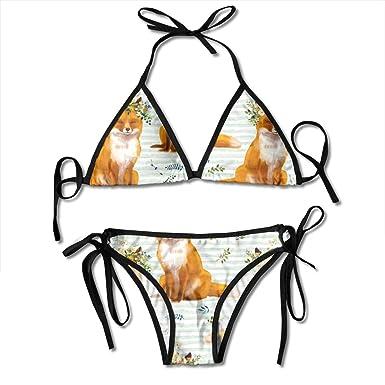 Bohemian Spring Fox - Green Stripes Bikini de Moda para ...