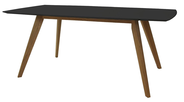 Tenzo Bess Designer Dining Table 75 X 185 X 95 Cm Black Oak  # Meuble Tv Treteaux