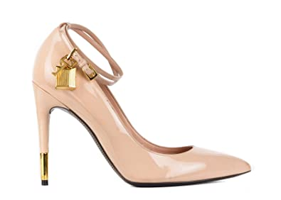 45a20ef3c2a Tom Ford Womens Blush Lacquered Leather Padlock Pumps Size  IT40 US10~RTL 575 Pink
