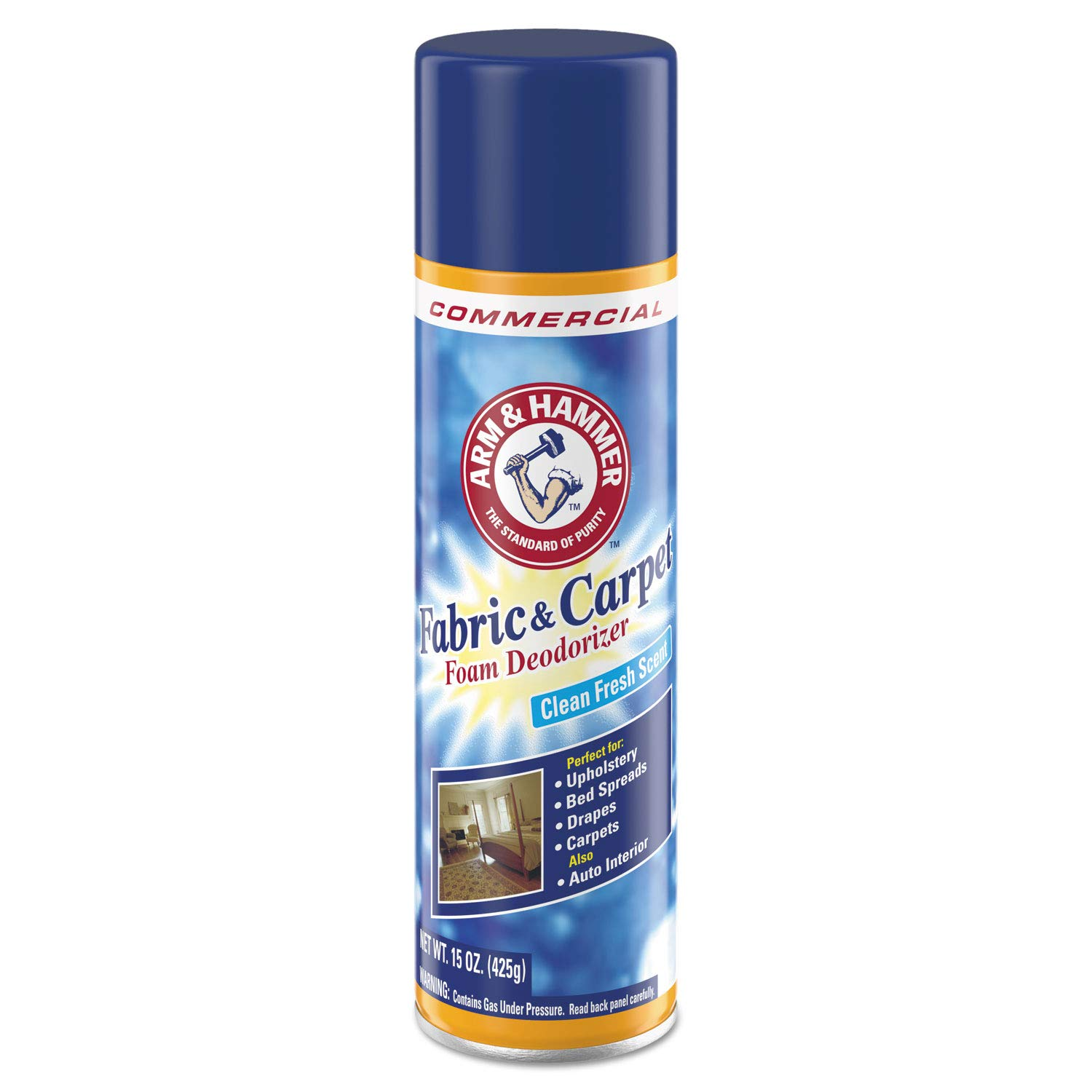 Arm & Hammer 84128 15 oz Fabric And Carpet Foam Deodorizer Can by Arm & Hammer