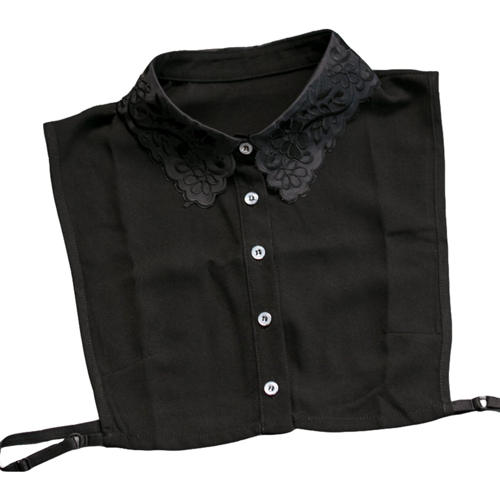 2aaaf19635034c HappyStory Women's Clothing accessaries Half Shirt Collar Blouse Detachable Lapel  Collar Black at Amazon Women's Clothing store: