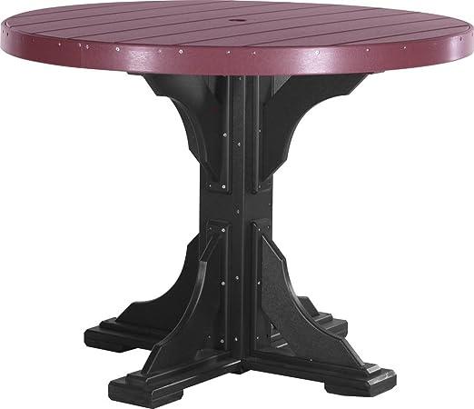 Al aire libre poliéster 4 pies mesa redonda – mesa sólo – cerezo y ...