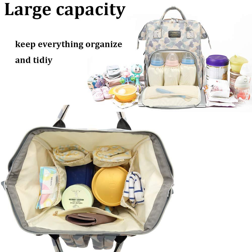Baby Diaper Bag Backpack Waterproof Stroller Strap Insulated Bag