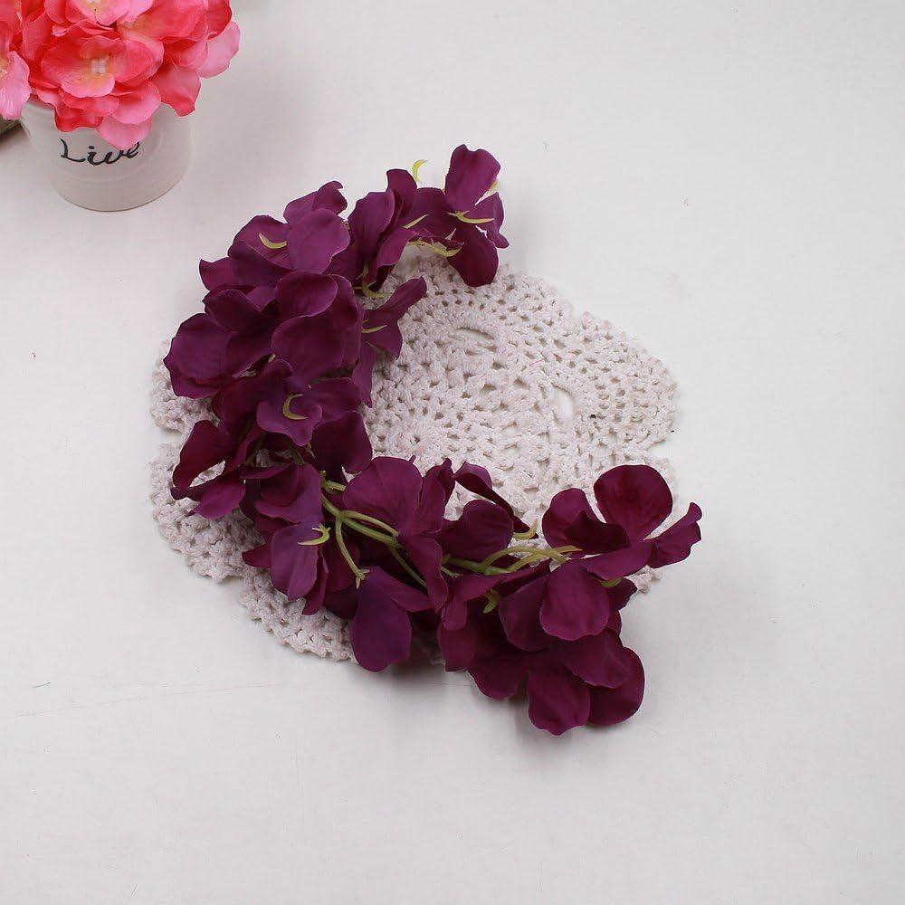 yutang Flores Artificiales de pergolas Artificiales Decorativas de Boda Hidrangea Fiesta Wisteria decoración del hogar: Amazon.es: Jardín