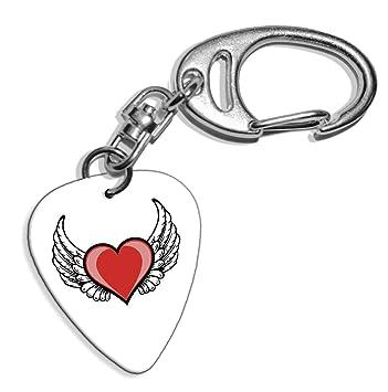 Amazon.com: Alas de ángel amor corazón Logo Guitarra Pick ...