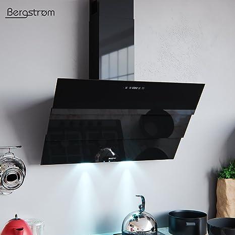 Bergstroem Estor Campana extractora Cristal LED Campana de pared (kopffrei mando a distancia 90 cm Negro: Amazon.es: Grandes electrodomésticos