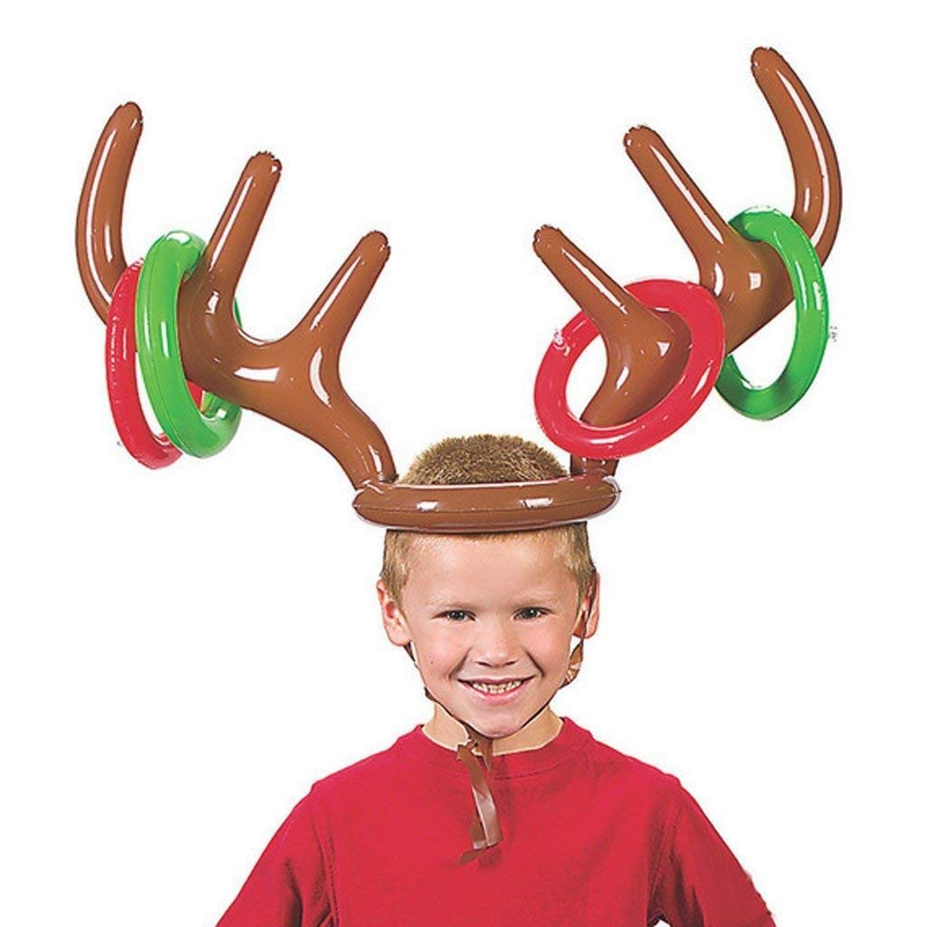 52432bc651b84 Inflatable Reindeer Antler Ring Toss Game-Holiday Party  Amazon.co.uk  Toys    Games