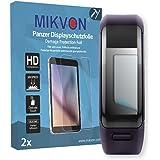 2x Mikvon Película blindada protección de pantalla Garmin vivosmart HR Protector de Pantalla - Embalaje y accesorios (Intencionadamente es más pequeña que la pantalla ya que esta es curva)