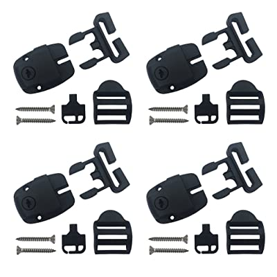 4 Set Spa Hot Tub Cover Broken Latch Repair Kit Have Slot - Replace Latches Clip Lock with Keys and Hardwares: Garden & Outdoor