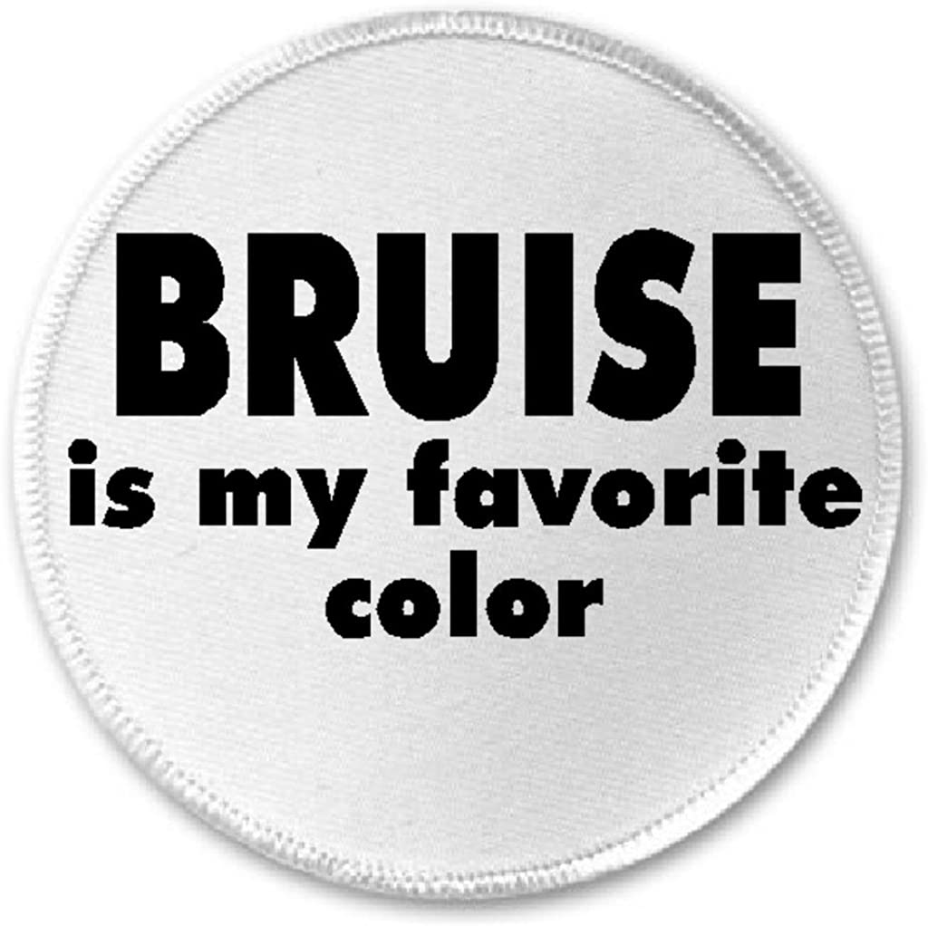 3 Sew Iron On Patch Roller Derby Funny Joke Bruise Is My Favorite Color