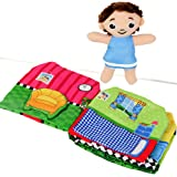 Jolly Peekaboo Book - My Quiet Books - Ultra Soft Baby Book Touch and Feel Coloth Book, 3D Sound Book for Baby/ Toddler, Learning to Sensory Book, Indentify Skill Boys and Girls, Toddler Busy Book