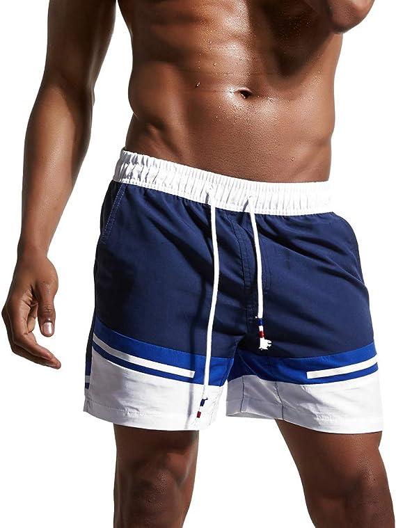 AIWENSI Bañador Traje de Baño Pantalones Cortos para Hombre de Natación Playa Piscina + Funda Impermeable Movíl