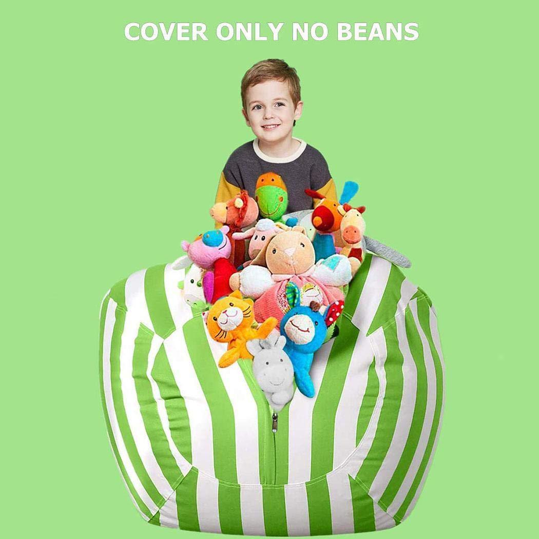 HOTUEEN Large Stuffed Animal Bean Bag Storage Chair Multi-Purpose Beanbag Covers for Organizing Plush Toys