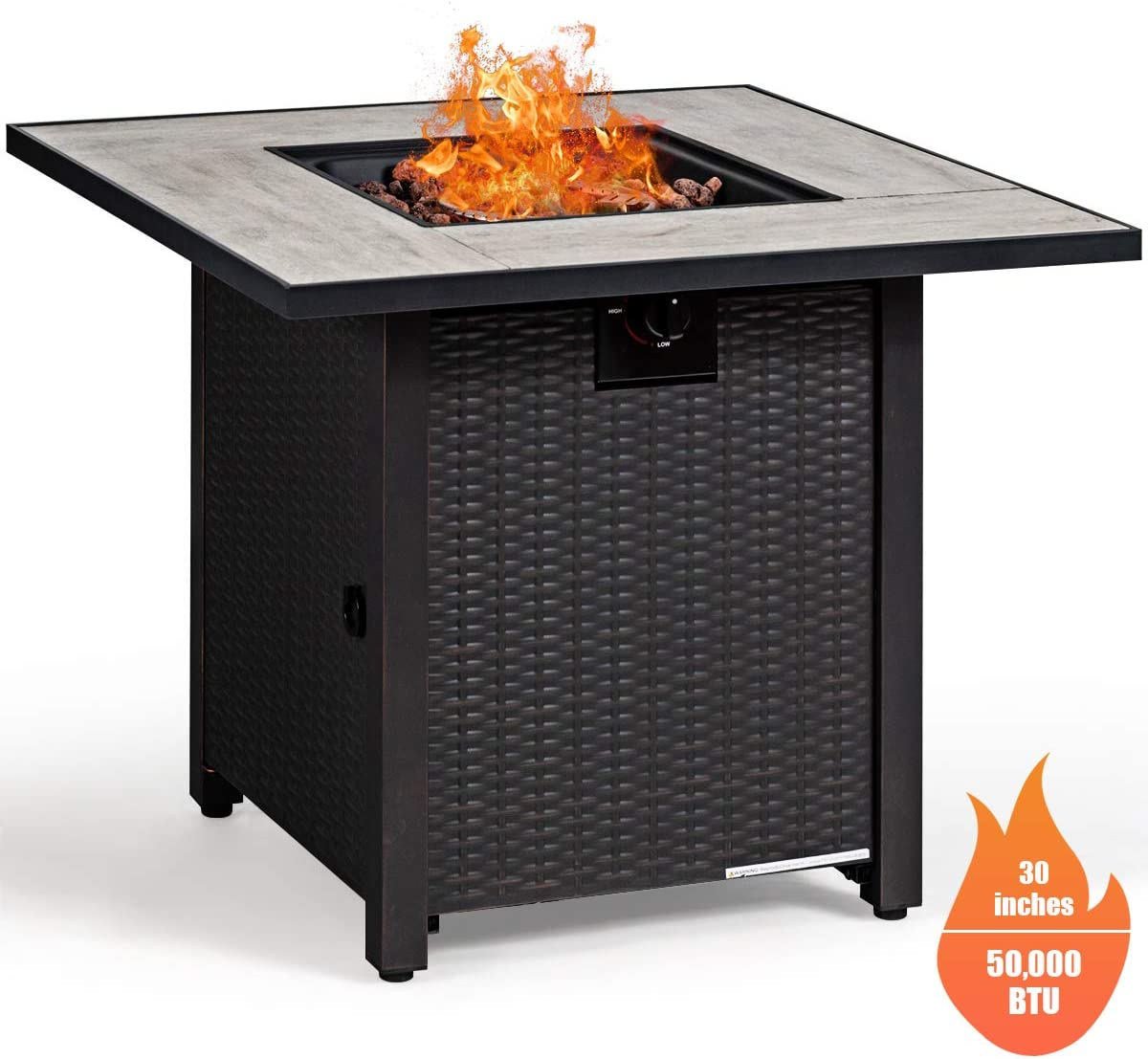 SUNCOO Smokeless Fire Pit 20 Inch Stainless Steel Bonfire, Wood Burning Firepit with Detachable Grill, Adjustable Air Inlet for Outdoor Campfire, Backyard, No Gas or Propane Required
