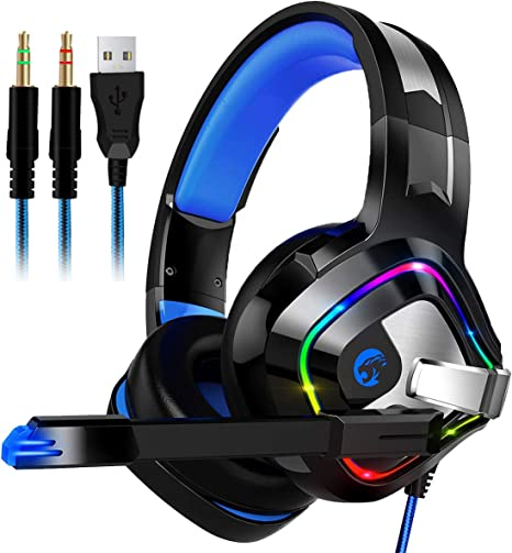 Audífonos para Juegos para PS4, Xbox One, PC, Auriculares estéreo ...