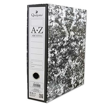 400140 - Pack de 2 Archivadores con caja A-Z, tamaño folio, con 2 anillas y palanca (2 unidades): Amazon.es: Oficina y papelería
