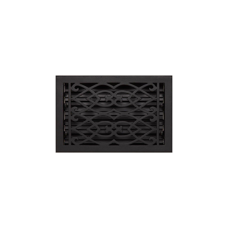 Naiture 8'' x 12'' Oversized Cast Iron Floor Register Victorian Style