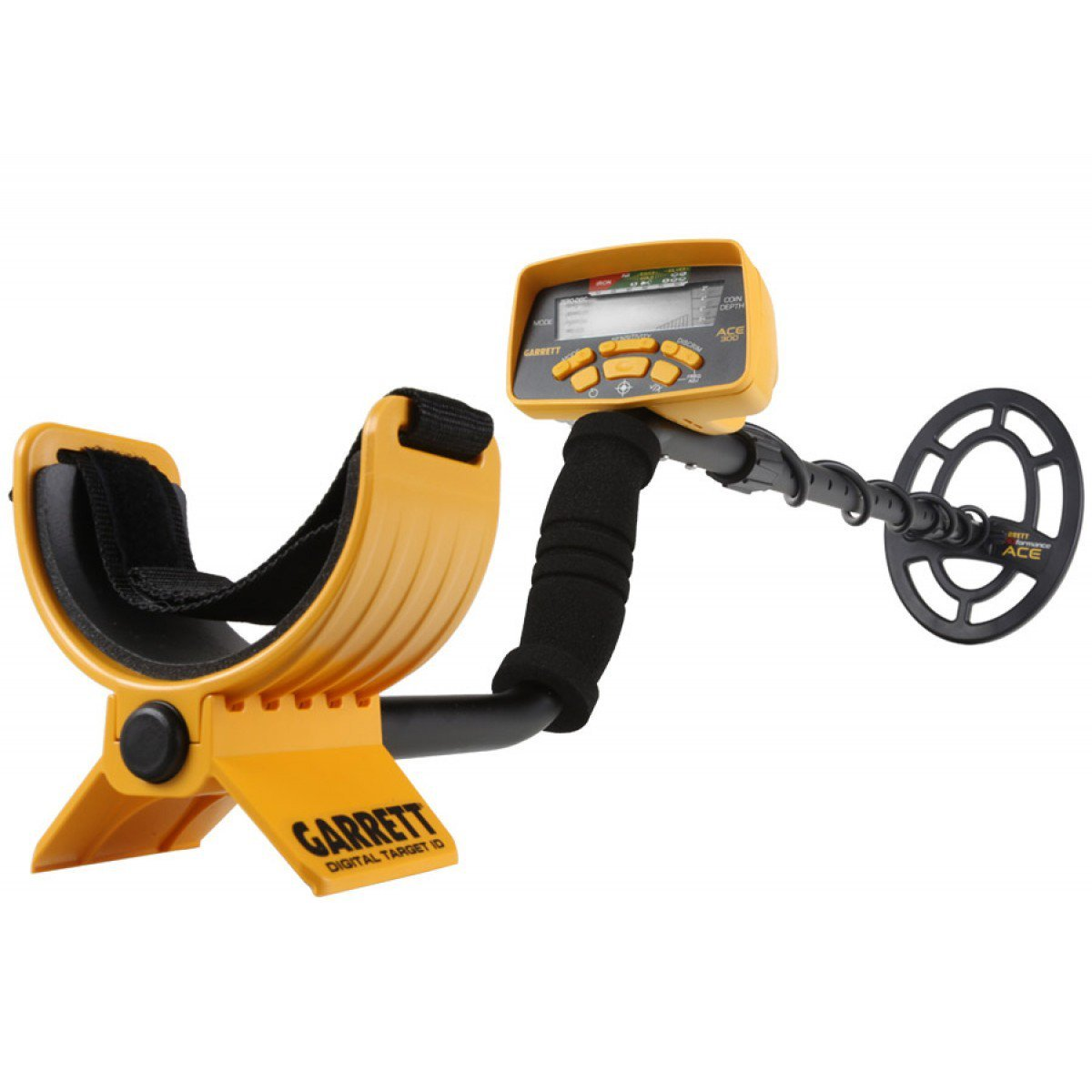 Jestik Garrett ACE 300 Metal Detector with Waterproof Coil and Headphone Plus Free Accessories