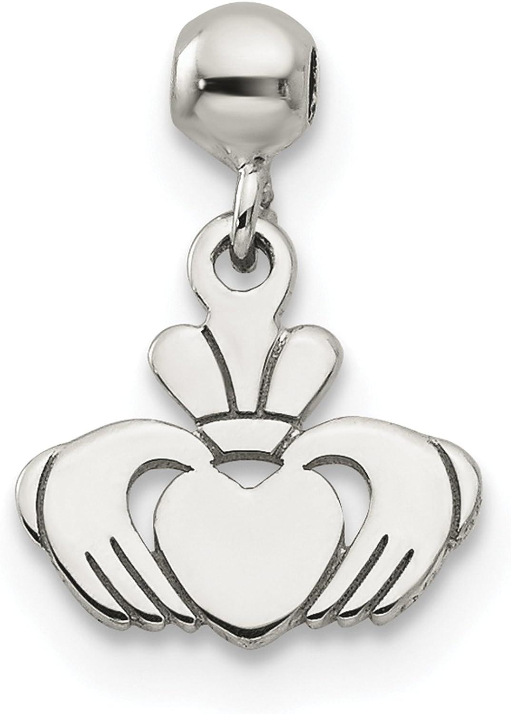 925 Sterling Silver Mio Memento Dangle Heart Key Charm