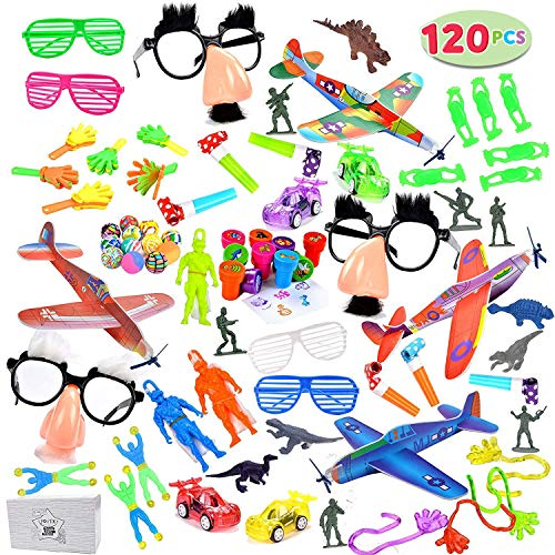 Joyin Toy 120 Pc Party Favor Toy Assortment for Kids Party Favor, Birthday Party, School Classroom Rewards, Carnival Prizes, Pinata Fillers, Easter Egg ()