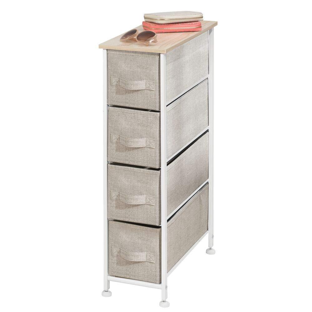 Pratico organizer con cassetti ideale per camera da letto e bagno beige Com/ò con 4 cassetti mDesign Cassettiera in tessuto