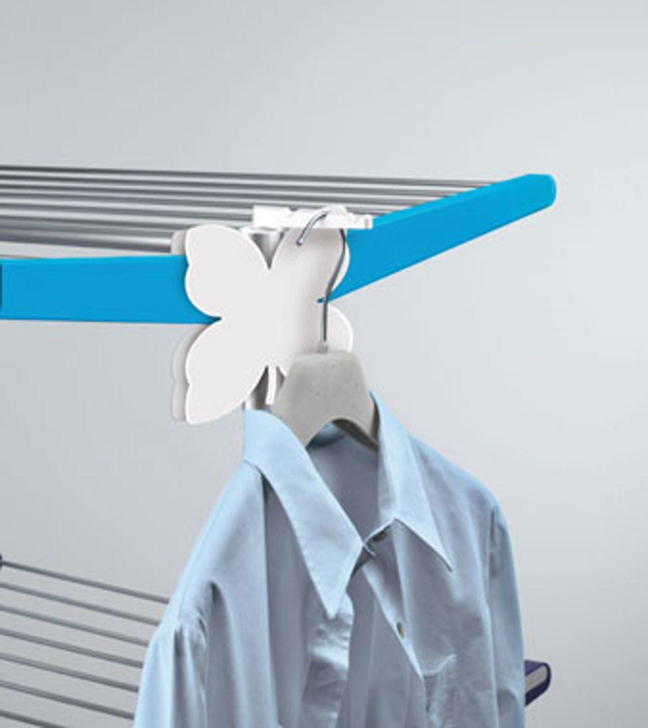 Meliconi Stendimeglio Junior Quadrifoglio Tendedero Vertical con Ruedas y Bandeja Aluminio 138x72.5x83 cm Verde