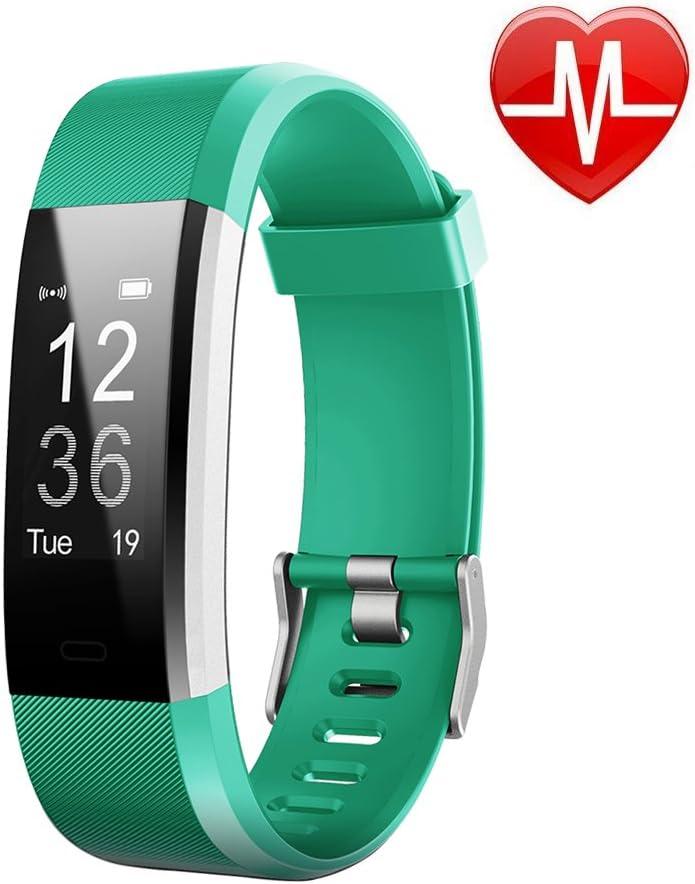 LETSCOM Fitness Tracker HR, reloj de pulsera con monitor de ...