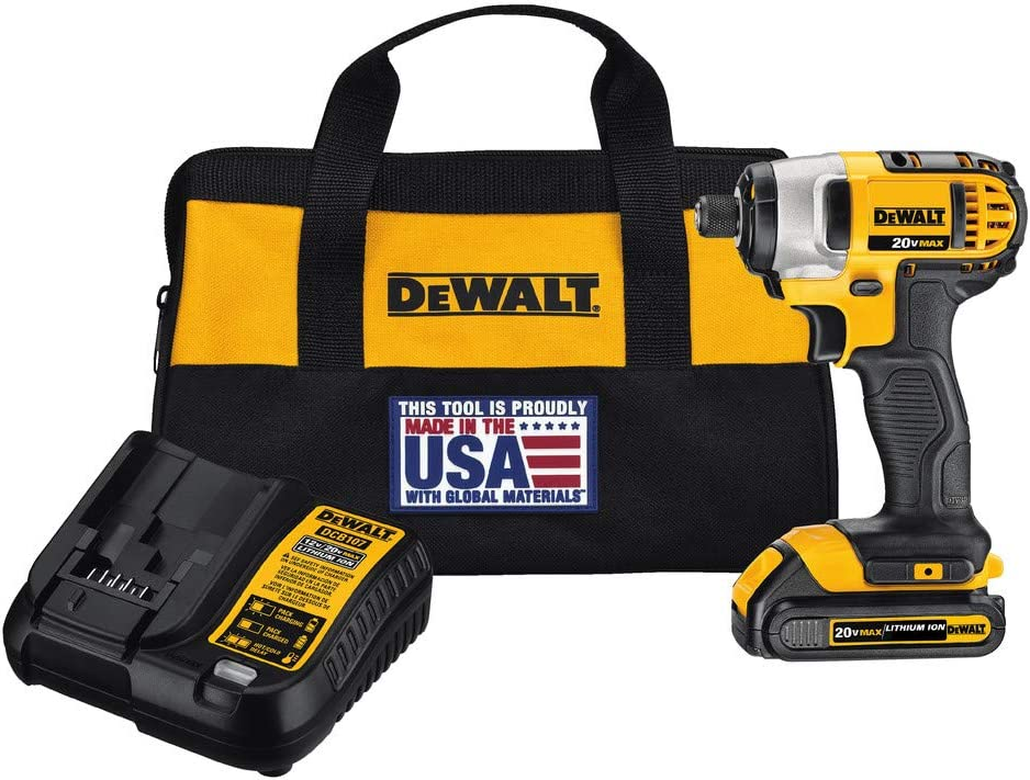 Dewalt DCF885C1R 20V MAX 1.5 Ah Cordless Lithium-Ion 1 4 in. Impact Driver Kit Renewed