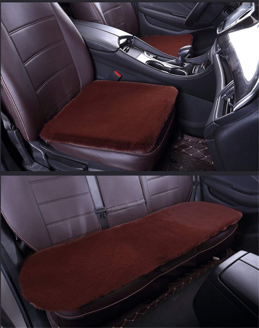 Universal Auto Sitzbezug Autositzauflage Sitzkissen Lammfell Sitzauflage Stuhlauflage Schaffell Kissen f/ürs Auto Rollstuhlauflage sch/ön Schwarz,3PCS
