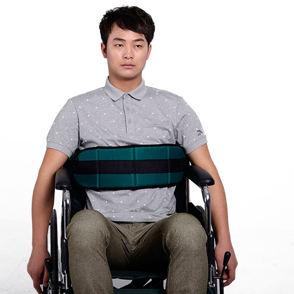 Ibnotuiy Adjustable Wheelchair Seat Belt Patients Cares Safety Harness Chair Waist Lap Strap for Elderly