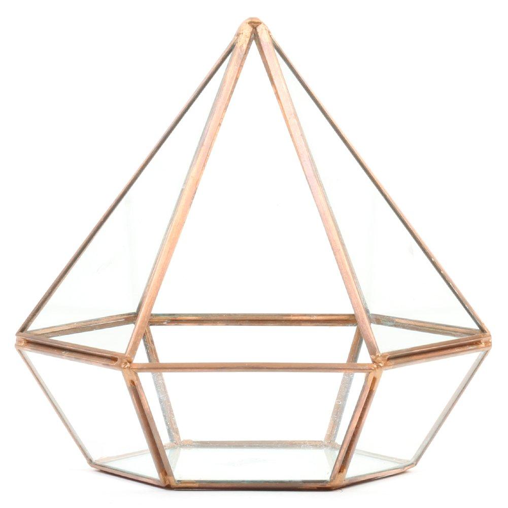 Koyal Wholesale Diamond Geometric Table Glass Terrarium