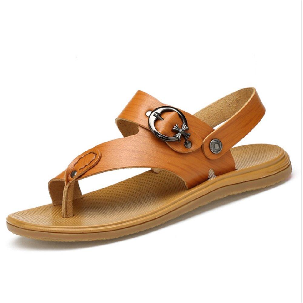 Zapatillas Sandalias De Verano para Hombres Sandalias Y Pantuflas De Playa De Uso Cómodo Y Transpirables (24.0-28.0) CM Zapatos de Playa 41 1/3 EU|Marrón