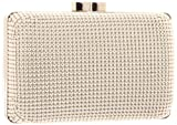 Whiting & Davis Dimple Mesh Minaudiere 1-5832SV Clutch,Silver,One Size