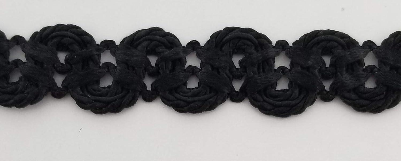 Black 3//4 Double Scalloped Braid Gimp Trim Many Colors! 12 Continuous Yards