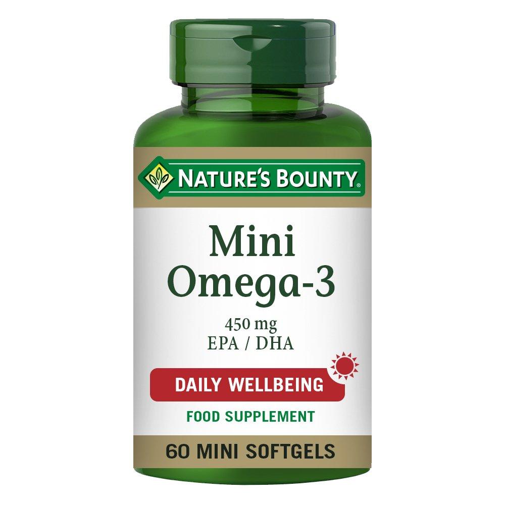 Nature's Bounty Mini Omega-3 450 mg EPA / DHA Mini Softgels - Pack of 60