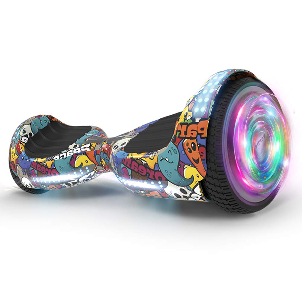 Hoverboard UL 2272 Certified Flash Wheel 6.5'' Wireless Speaker with LED Light Self Balancing Wheel Electric Scooter (Monster Party)