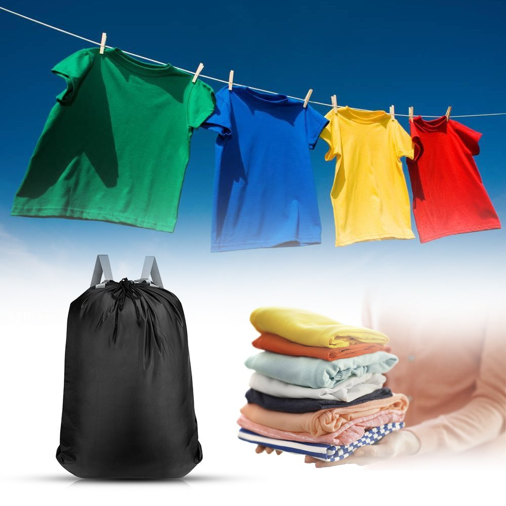 KHTD Laundry Bag 24'' x 32'' Inch, Large Laundry Backpack with Strong Adjustable Shoulder Straps for College Students Apartment Dorm-Room by KHTD (Image #6)