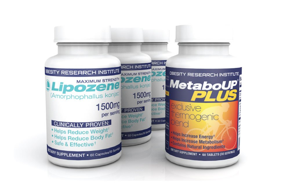 Lipozene Weight Loss Pills Starter Kit 180 capsules with FREE 60 count MetaboUp Plus