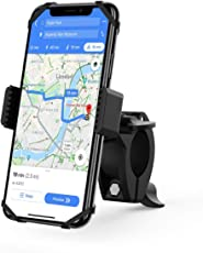 YOSH Bike Phone Mount Universal Motorcycle Mountain Bike Bicycle Phone Mount Holder Cell Phone Mount for Handlebars Compatible with iPhone Xs/XR/X/8/7/6 Plus Galaxy S9/S8, Smartphones GPS up to 6.2''