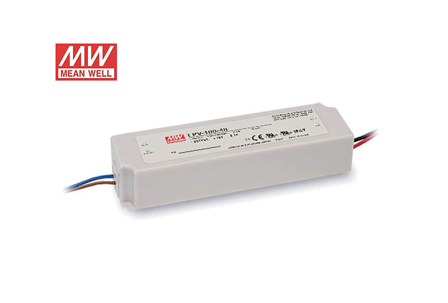 Mean Well alimentation Mean Well 150 W 12 V, lpv-150 – 12 à tension constante Idéal pour bandes lED, dimensions : 191 x 63 x 37,5 mm