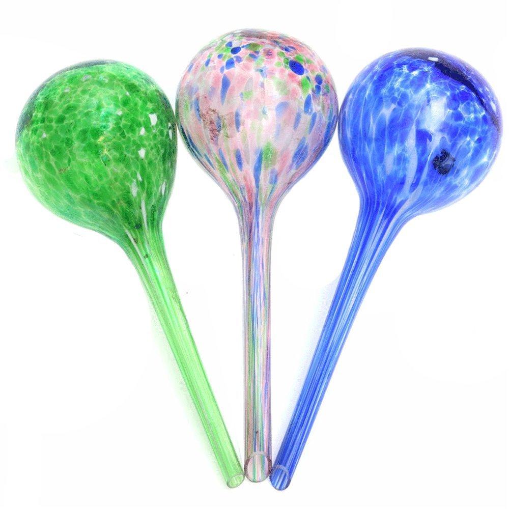 Lautechco 3pcs 200ml Water Ball Plant Automatic Watering Glass Bulbs Flower Drip Irrigation Tools (Random Color) by Lautechco® (Image #1)