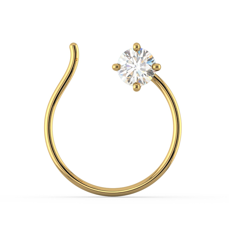 Buy Joyalukkas Pride Diamond Collection 22k Yellow Gold And Diamond Nose Pin At Amazon In