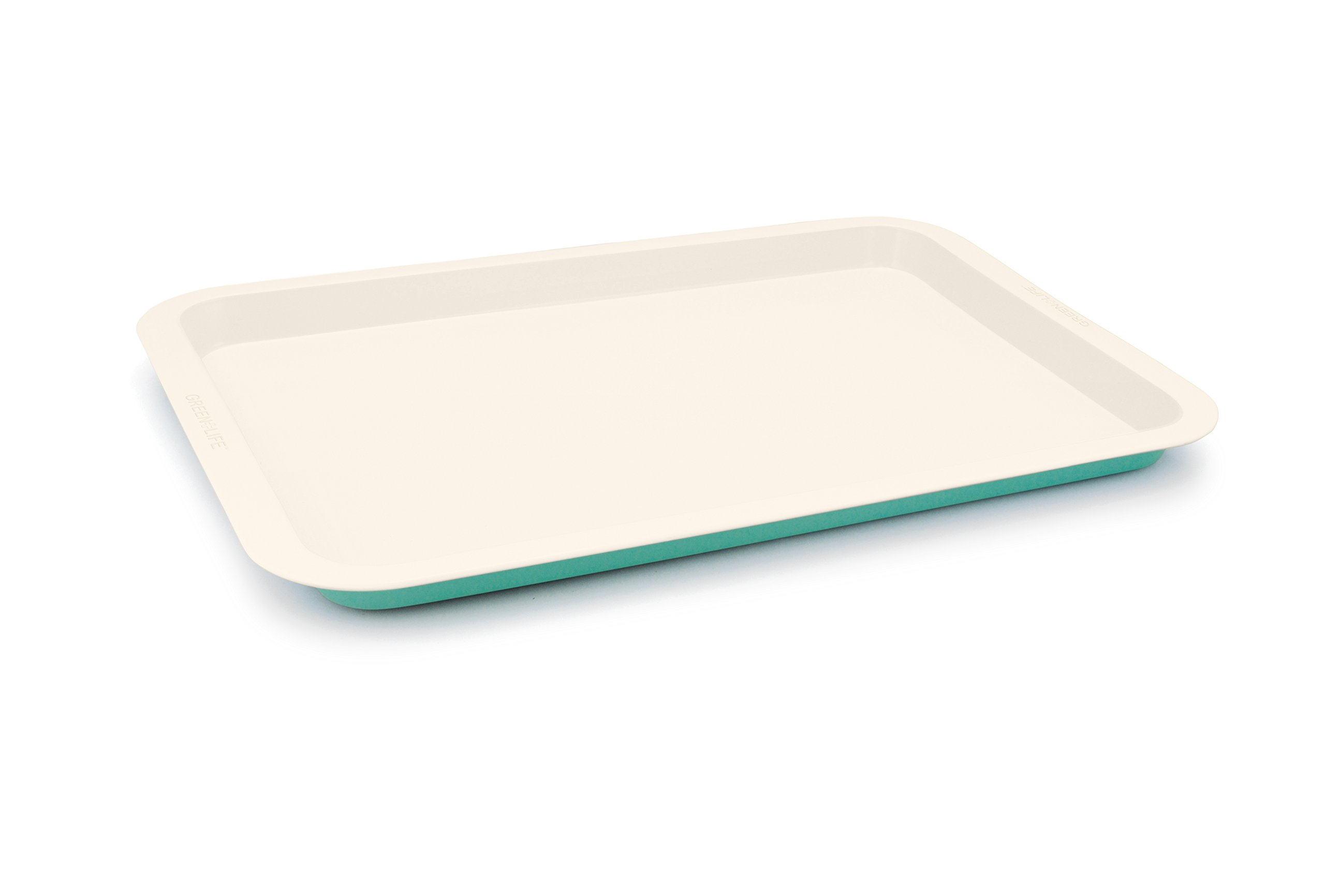 GreenLife Ceramic Non-Stick Cookie Sheet, Turquoise - BW000055-002 by GreenLife