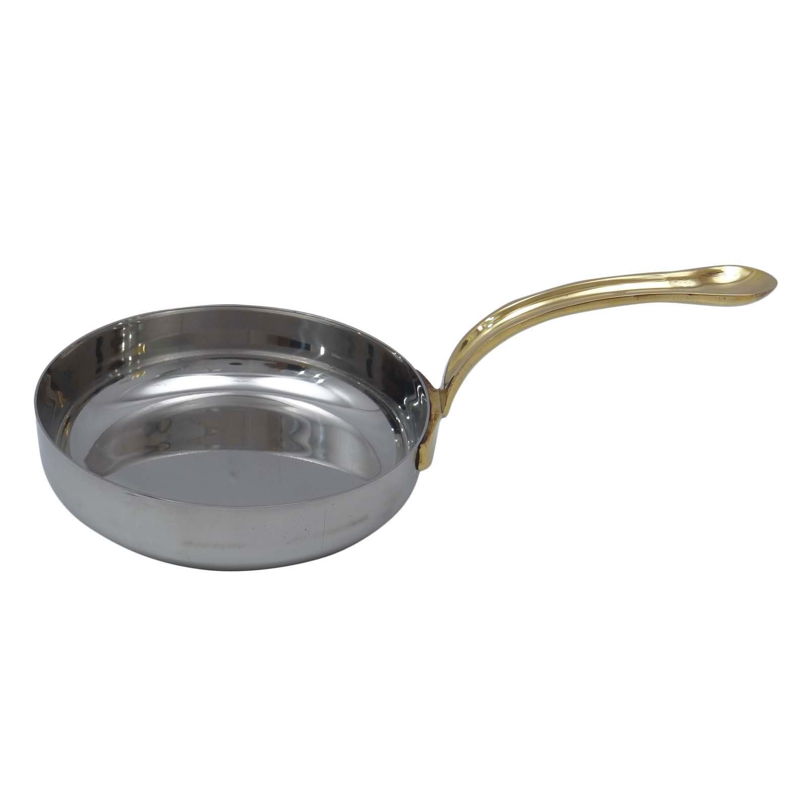 Small Stainless Steel Tadka Pan New Cookware Utensil Kitchenware Spice Heating