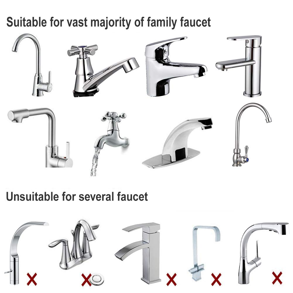 Advanced Alloy Swivel Sub Faucet Filter for Home /& Kitche Faucet Filter Replacement /& Compatible /& Reusable 0.1/μm Filter Element Mineralclear Filtration Filtration System Drinking Water Filter